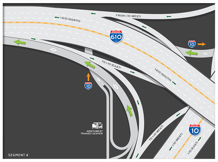 US 290 HOV / HOT (Express) Lane outbound map 4
