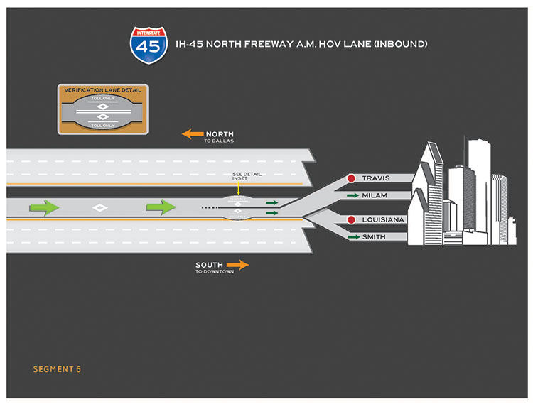 I-45 North inbound segment 6 map