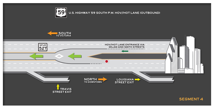 US 59 South outbound Segment 4 map