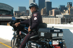 METRO Police officer motorcycle unit